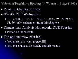 Valentina  Tereshkova Becomes 1 st  Woman in Space (1963)
