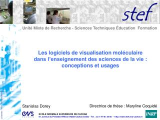 Unité Mixte de Recherche - Sciences Techniques Éducation  Formation