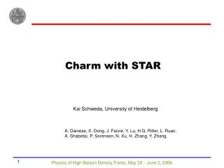 Charm with STAR