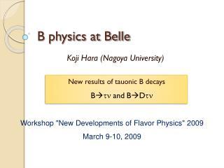 B physics at Belle