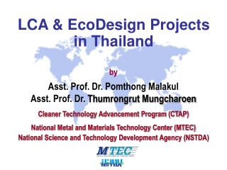LCA & EcoDesign Projects  in Thailand