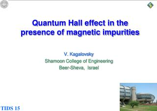 Quantum Hall effect in the presence of magnetic impurities
