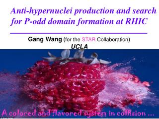 Anti-hypernuclei production and  search for  P-odd domain formation at RHIC