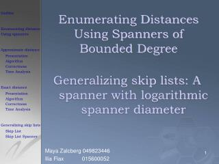 Enumerating Distances Using Spanners of Bounded Degree