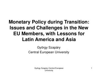 György Szapáry Central European University
