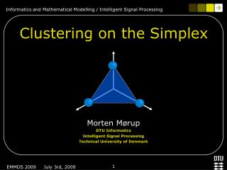 Clustering on the Simplex