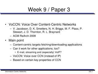 Week 9 / Paper 3