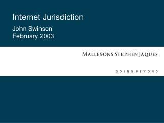 Internet Jurisdiction