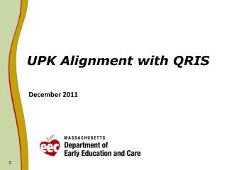 UPK Alignment with QRIS