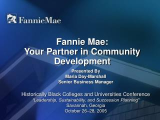 Fannie Mae: Your Partner in Community Development