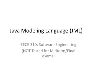 Java Modeling Language (JML)