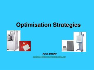 Optimisation Strategies
