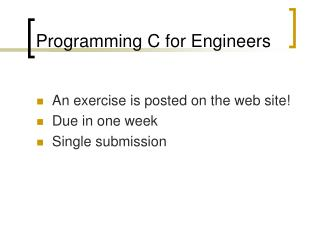 Programming C for Engineers