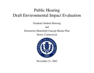 Public Hearing Draft Environmental Impact Evaluation