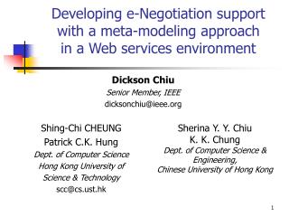 Developing e-Negotiation support with a meta-modeling approach in a Web services environment