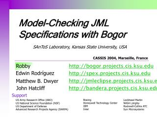 Model-Checking JML Specifications with Bogor