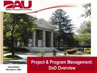Project & Program Management: DoD Overview