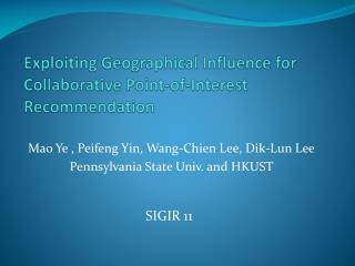 Exploiting Geographical Influence for Collaborative Point-of-Interest Recommendation