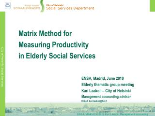 City of Helsinki Social Services