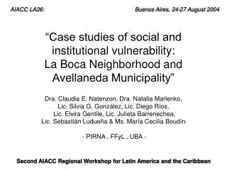 AIACC LA26:        Buenos Aires, 24-27 August 2004