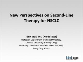 New Perspectives on Second-Line Therapy for NSCLC