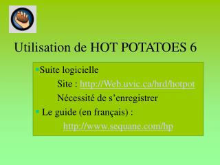 Utilisation de HOT POTATOES 6