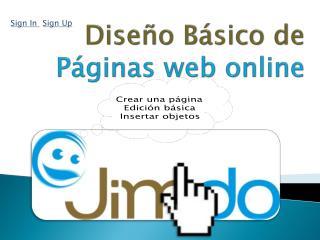 Diseño Básico de Páginas web online