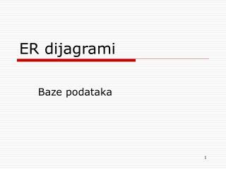 ER dijagrami