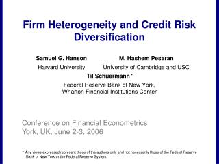 Firm Heterogeneity and Credit Risk Diversification