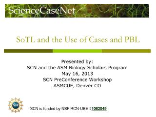 SoTL and the Use of Cases and PBL