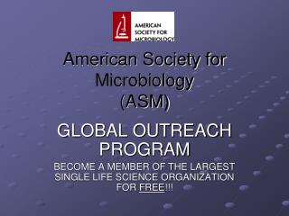 American Society for Microbiology (ASM)