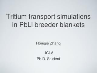 Tritium transport simulations in PbLi breeder blankets