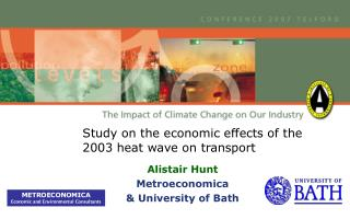 Study on the economic effects of the 2003 heat wave on transport
