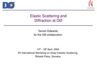 Elastic Scattering and Diffraction at D Ø