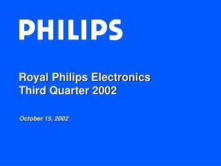 Royal Philips Electronics Third Quarter 2002