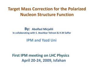 Target Mass Correction for the Polarized Nucleon Structure Function