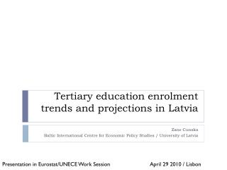 Tertiary education enrolment trends and projections in Latvia