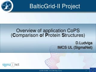 Overview of application  CoPS ( C omparison  o f  P rotein  S tructures)