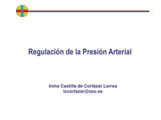 Regulaci�n de la Presi�n Arterial