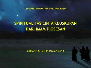ON GOING FORMATION UNIO INDONESIA SPIRITUALITAS CINTA KEUSKUPAN  DARI IMAM DIOSESAN