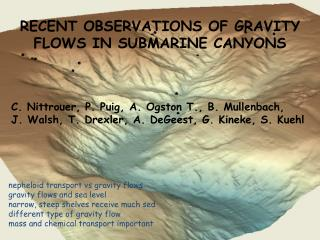 RECENT OBSERVATIONS OF GRAVITY FLOWS IN SUBMARINE CANYONS