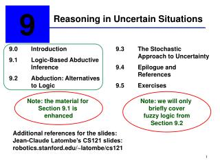 Reasoning in Uncertain Situations