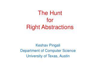Keshav Pingali Department of Computer Science University of Texas, Austin