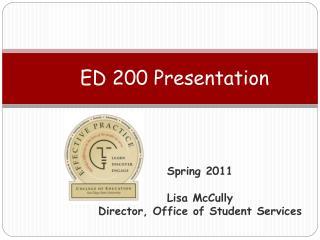 ED 200 Presentation
