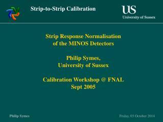 Strip-to-Strip Calibration