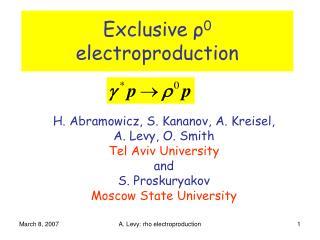Exclusive  ρ 0  electroproduction