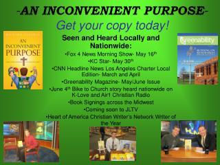 - AN INCONVENIENT PURPOSE - Get your copy today!
