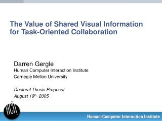The Value of Shared Visual Information for Task-Oriented Collaboration