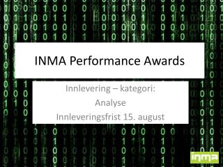 INMA  Performance Awards