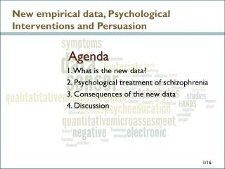 New empirical data, Psychological Interventions and Persuasion